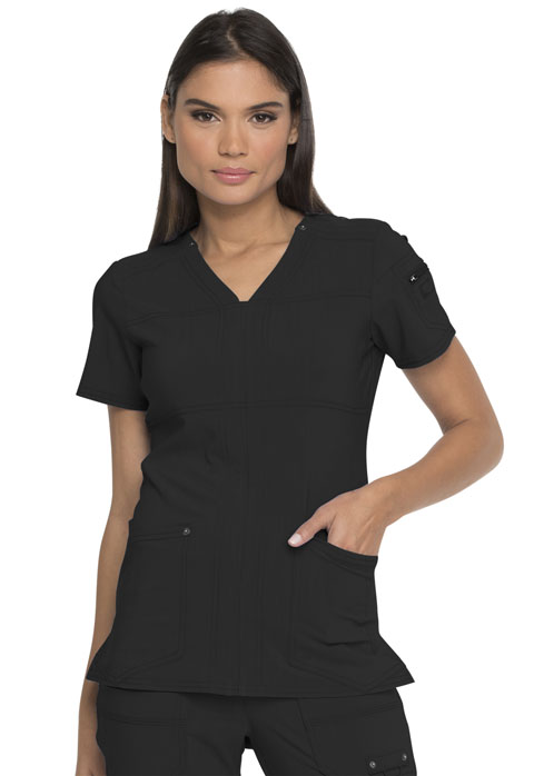 Dickies Advance V-Neck Top in Black