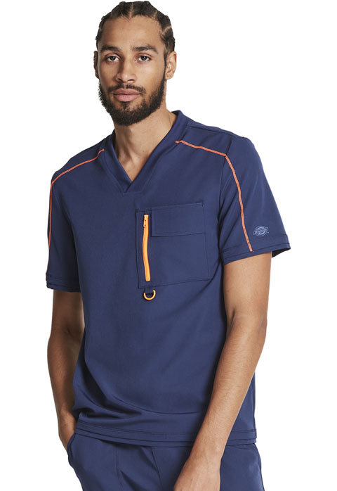 Dickies Dickies Dynamix Men's Tuckable V-Neck Top in Navy