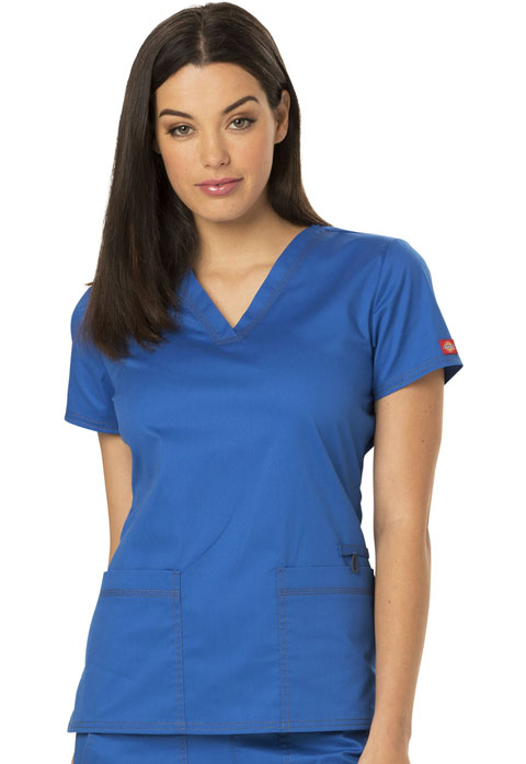 Dickies Gen Flex V-Neck Top in Royal