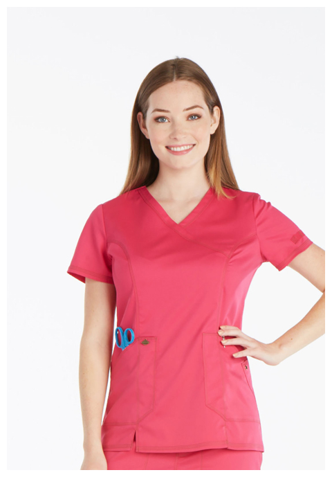 Dickies Essence Women's Mock Wrap Top Pink