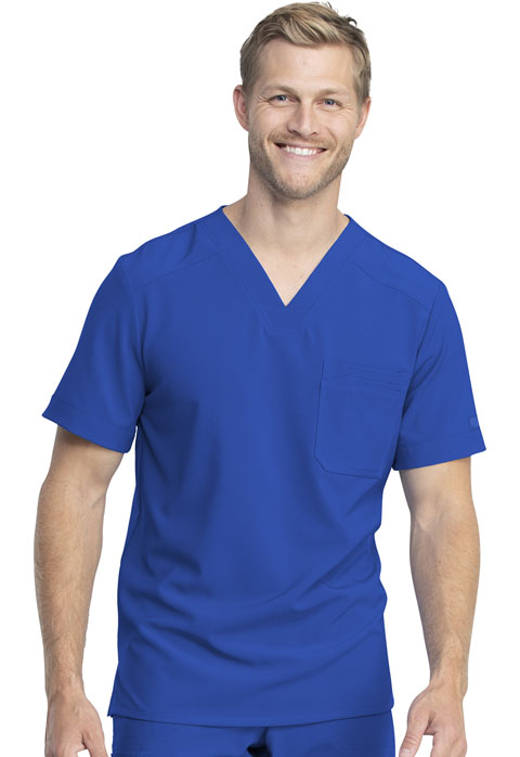 Dickies Retro Men's Tuckable V-Neck Top in Royal