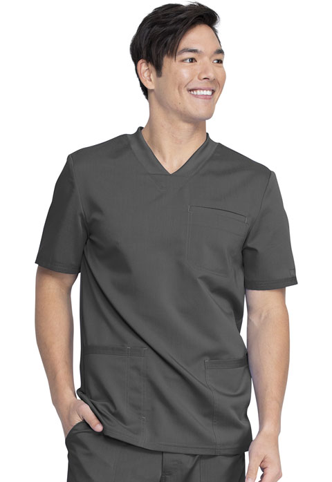 Dickies Dickies Balance Men's V-Neck Top in Pewter