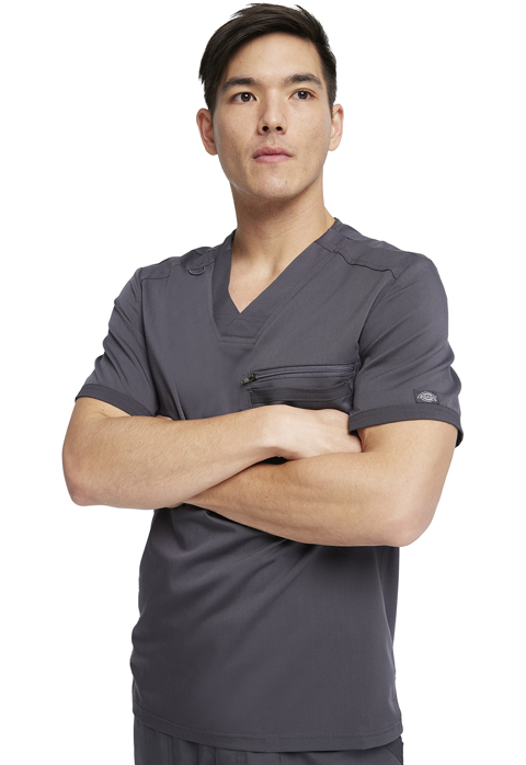 Dickies Dickies Balance Men's Tuckable V-Neck Top in Pewter