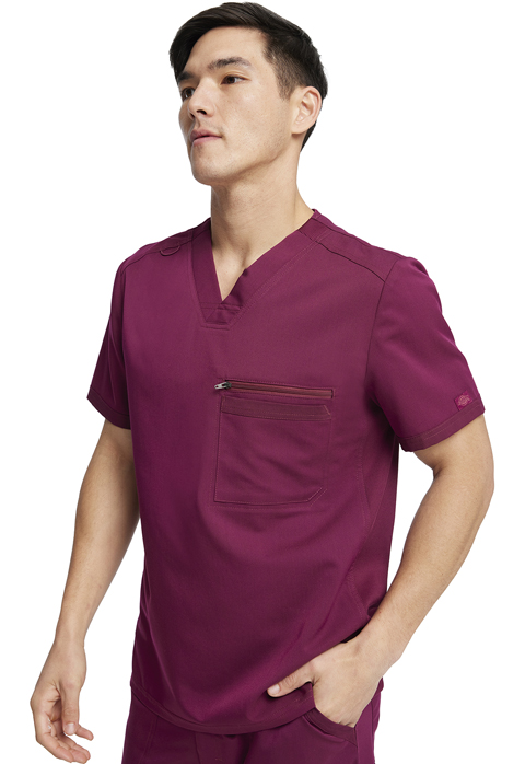 Dickies Dickies Balance Men's V-Neck Top in Wine
