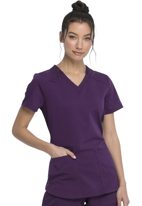 Dickies Dickies Balance V-Neck Top in Eggplant