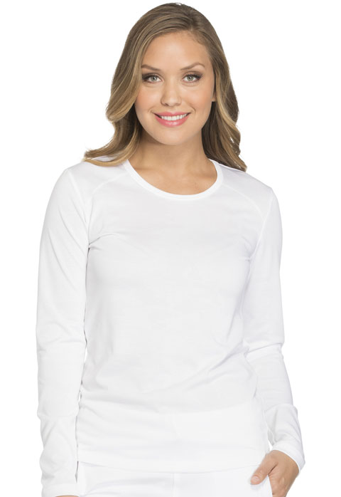 Dickies Dickies Dynamix Long Sleeve Underscrub Knit Tee in White
