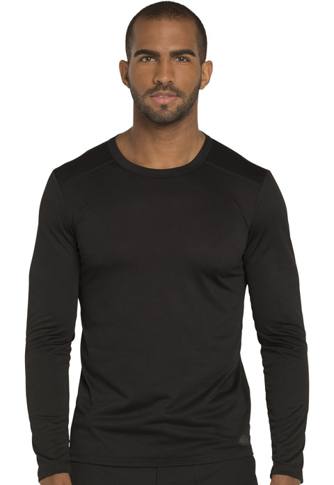 Dickies Dynamix Men's Long Sleeve Underscrub Knit Top in Black