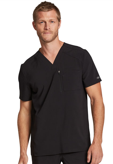 Dickies Retro Men's V-Neck Top in Black