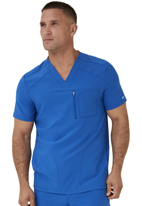 Dickies Retro Men's V-Neck Top in Royal