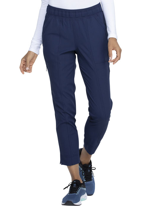 Simply Polished Women Mid Rise Tapered Leg Ankle Pant Blue