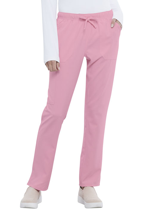 Simply Polished Women Mid Rise Straight Leg Drawstring Pant Pink