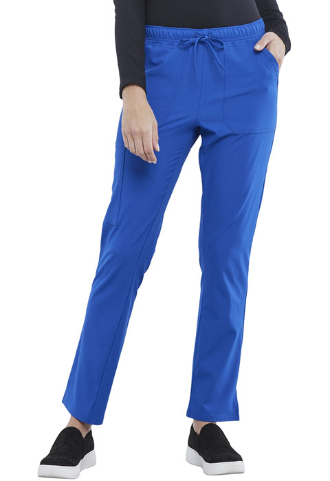 Simply Polished Women Mid Rise Straight Leg Drawstring Pant Blue