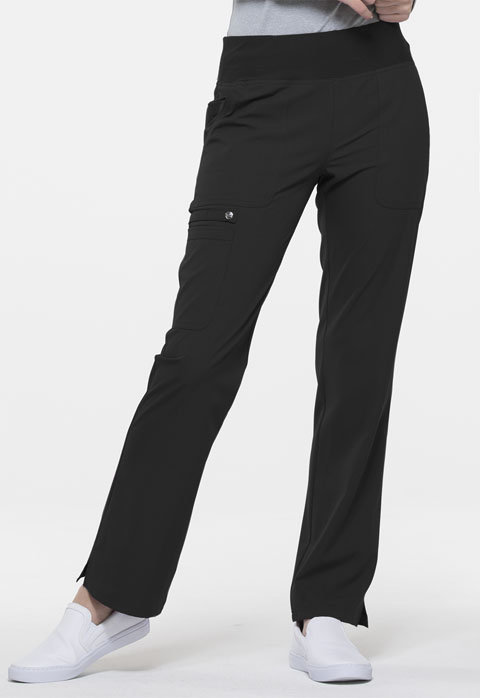 Simply Polished Women Mid Rise Straight Leg Pull-on Pant Black