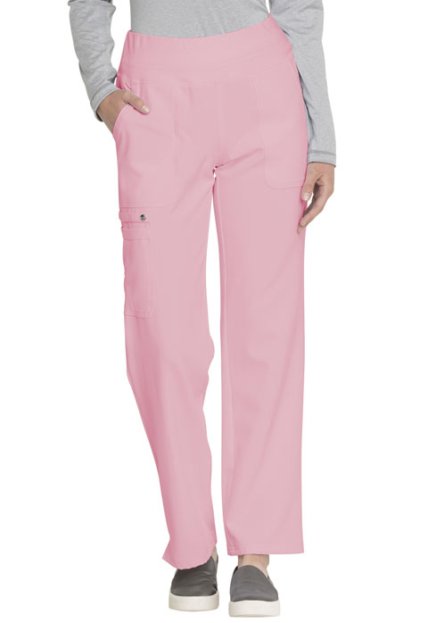 Simply Polished Women Mid Rise Straight Leg Pull-on Pant Pink