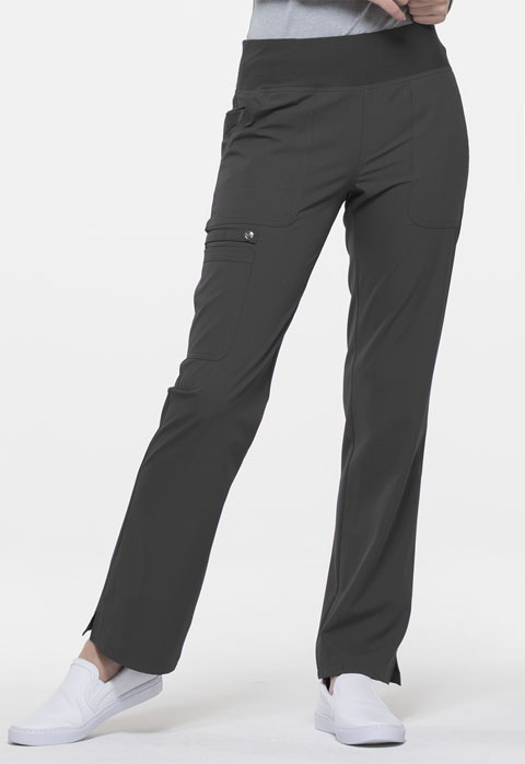 Simply Polished Women Mid Rise Straight Leg Pull-on Pant Gray