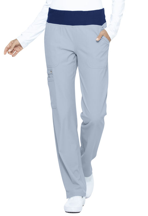 Simply Polished Women Mid Rise Straight Leg Pull-on Pant Blue