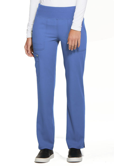 Simply Polished Women's Mid Rise Straight Leg Pull-on Pant Blue