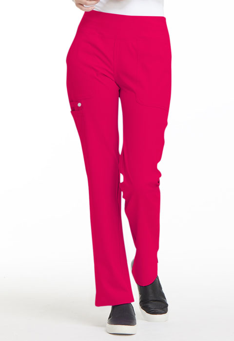 Simply Polished Women Mid Rise Straight Leg Pull-on Pant Red