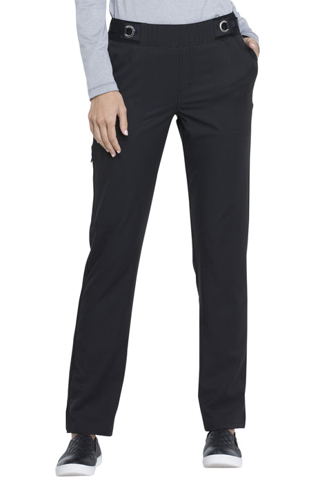 Simply Polished Women Mid Rise Tapered Leg Pull-on Pant Black