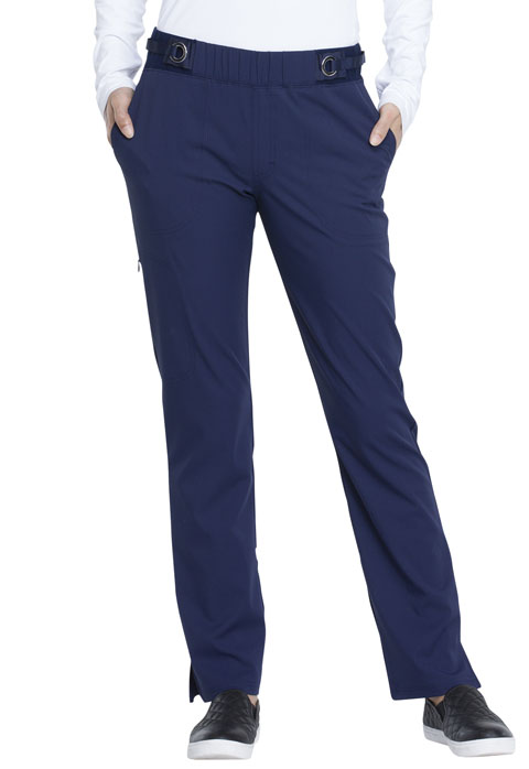 Simply Polished Women Mid Rise Tapered Leg Pull-on Pant Blue