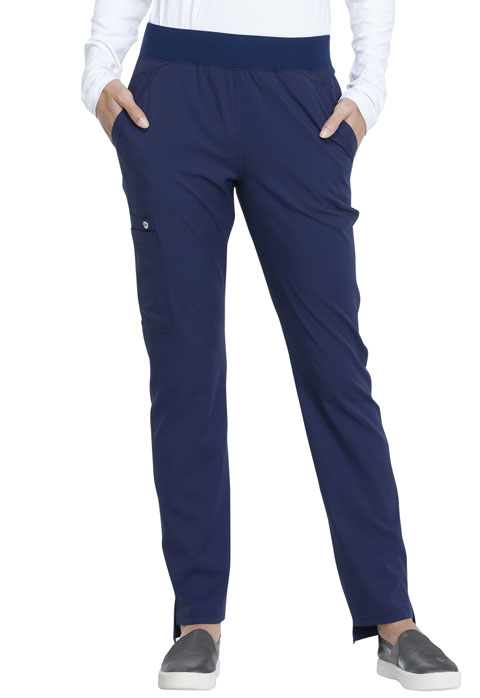 Elle Women's Natural Rise Tapered Leg Pull-on Pant Blue