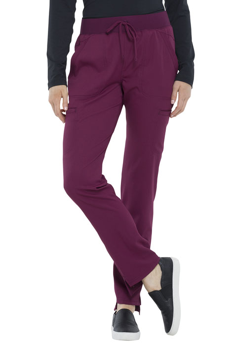 Simply Polished Women Natural Rise Straight Leg Pant Red