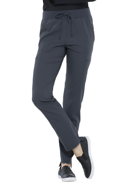 Simply Polished Women's Natural Rise Straight Leg Pant Gray