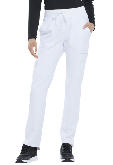 Simply Polished Women Natural Rise Straight Leg Pant White