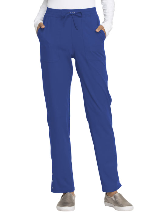 Simply Polished Women Mid Rise Tapered Leg Drawstring Pant Blue