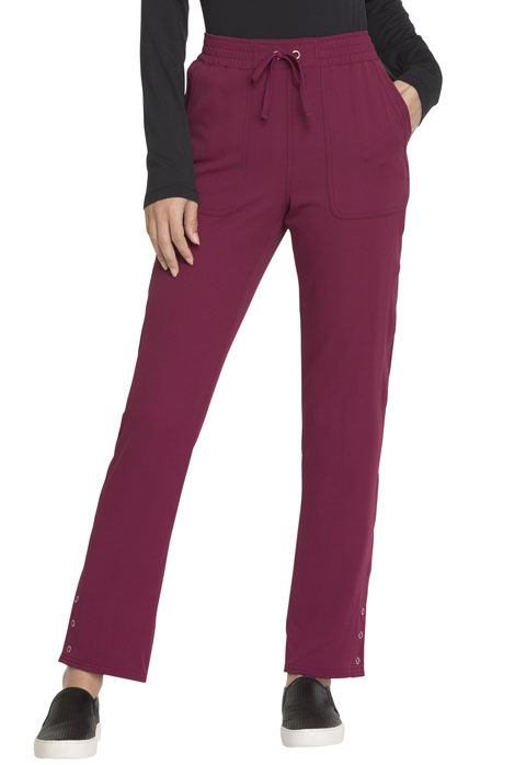 Simply Polished Women's Mid Rise Tapered Leg Drawstring Pant Red