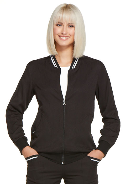 Simply Polished Women Bomber Jacket Black