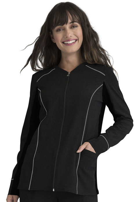 Simply Polished Women Zip Front Jacket Black