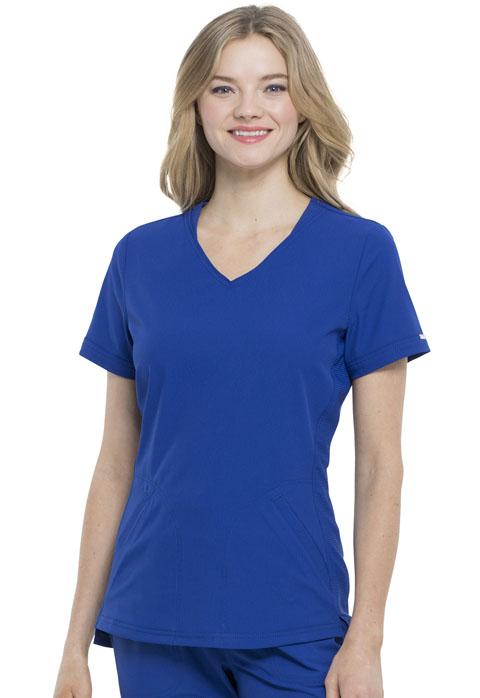 Simply Polished Women V-Neck Top Blue