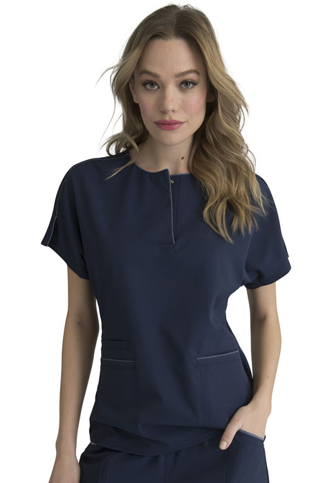 Simply Polished Women Round Neck Top Blue