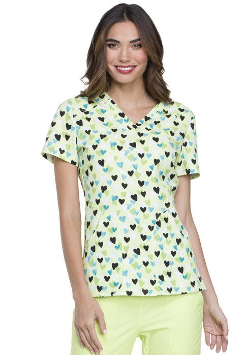 Prints a La Mode Women's V-Neck Top Heart Of Mine