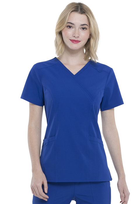 Simply Polished Women Mock Wrap Top Blue
