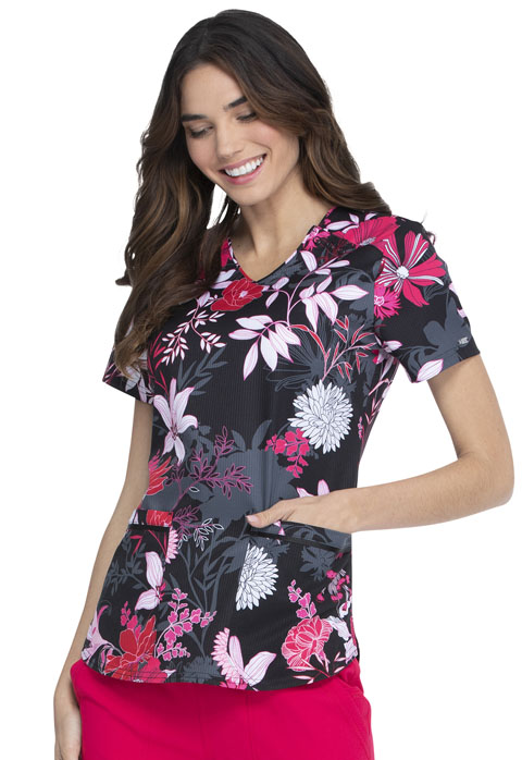 Prints a La Mode Women V-Neck Top All A Bloom