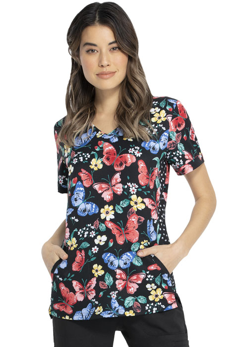 Prints a La Mode Women's Shaped V-Neck Top Let's Just Wing It
