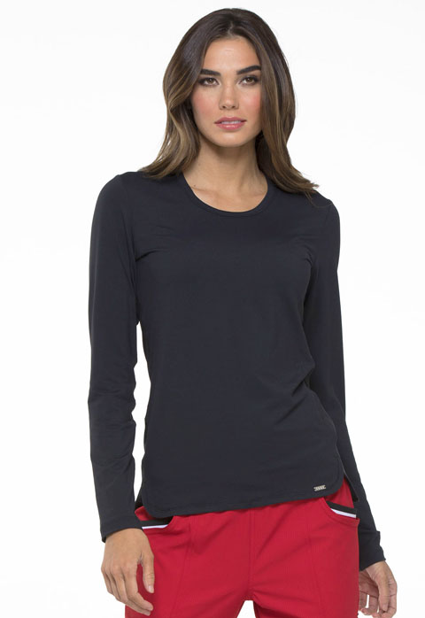 Simply Polished Women's Underscrubs Knit Tee Black
