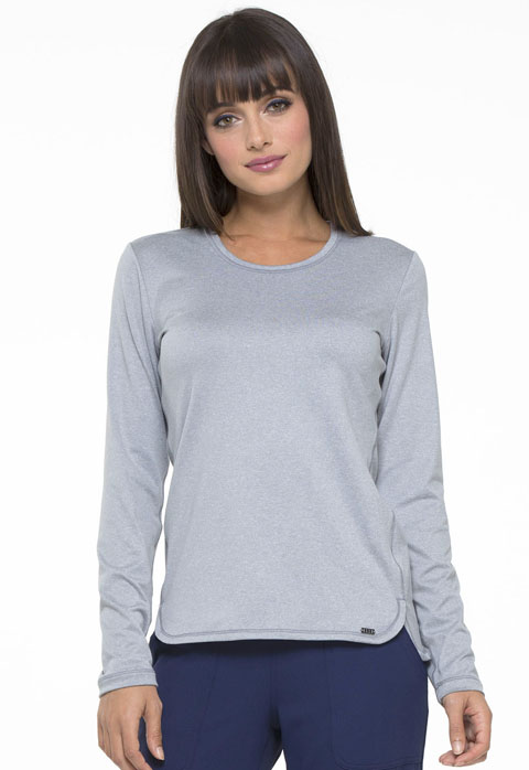 Simply Polished Women's Underscrubs Knit Tee Gray