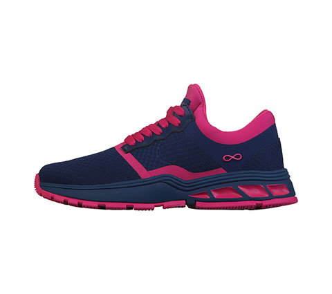 Infinity Footwear Shoes Women's FLY Navy with Shocking Pink