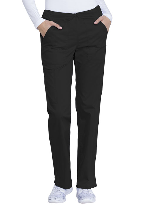 Dickies Genuine Dickies Industrial Strength Mid Rise Straight Leg Drawstring Pant in Black