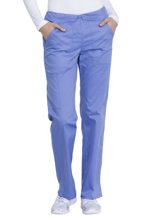 Dickies Genuine Dickies Industrial Strength Mid Rise Straight Leg Drawstring Pant in Ciel Blue