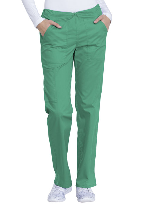 Dickies Genuine Dickies Industrial Strength Mid Rise Straight Leg Drawstring Pant in Surgical Green