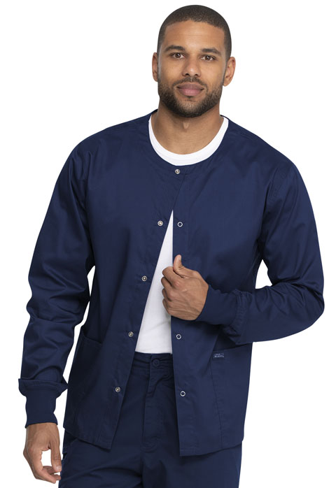 Dickies Genuine Dickies Industrial Strength Unisex Warm-up Jacket in Navy