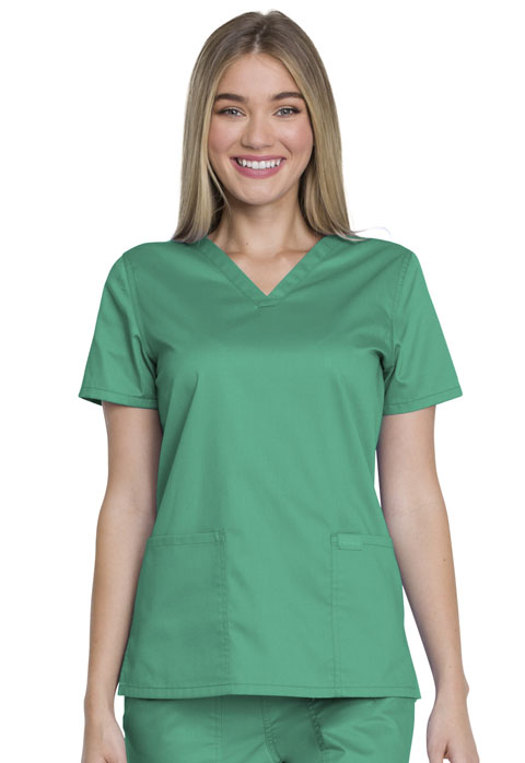 Dickies Genuine Dickies Industrial Strength V-Neck Top in Surgical Green