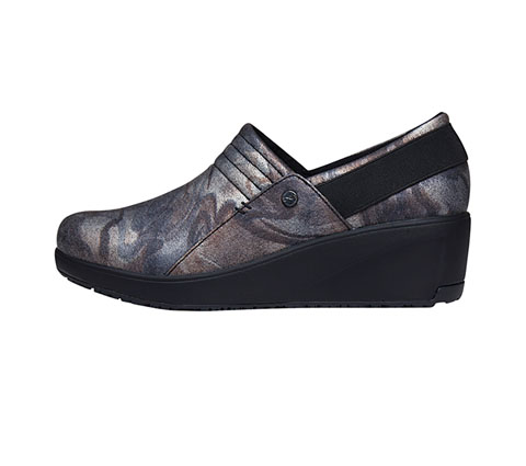 Infinity Footwear Shoes Women's GLIDE Black Marble with Black