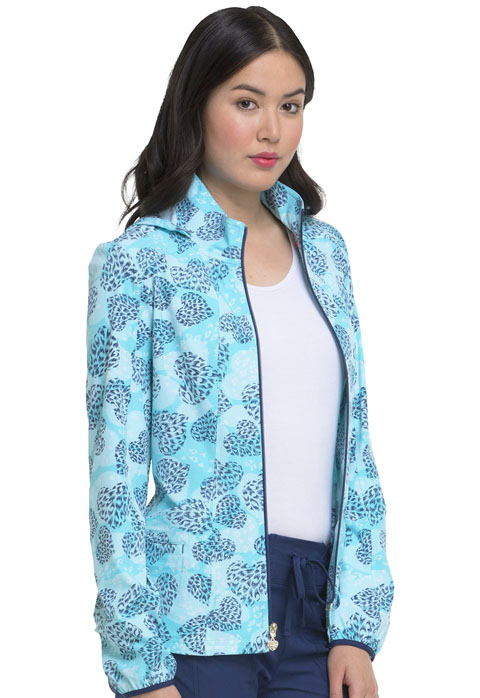 HeartSoul Prints Women's Zip Front Jacket All Fur You