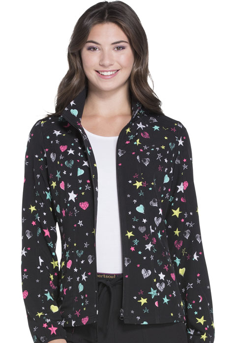 "HeartSoul HeartSoul Prints Women's ""U Da Bom"" Bomber Jacket All Star Love"