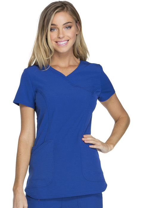 "HeartSoul Break on Through by HeartSoul Women's ""Cross My Heart"" Mock Wrap Top Blue"